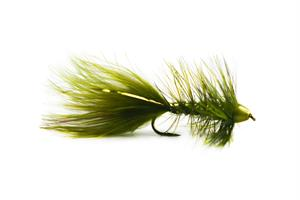 Wolly Bagger Olive Cone Head Streamer #8