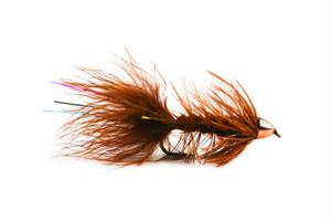 Wolly Bagger Brown Cone Head Streamer #8