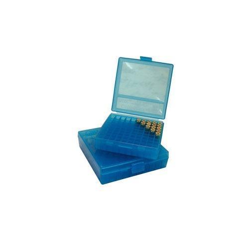 Mtm ammo box 38/357 100stk blå
