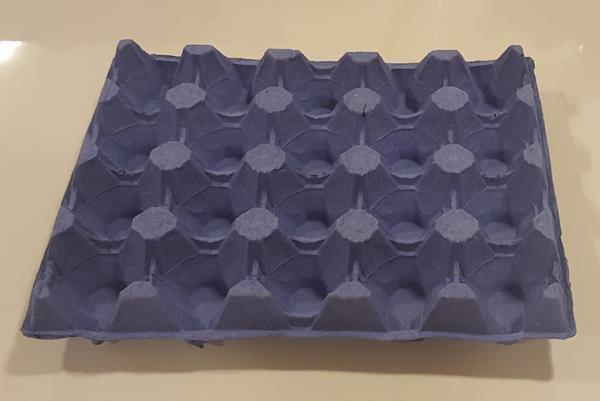 Äggbricka trapac 20 blå 231 st