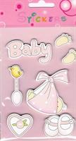 Stickers BABY ROSA (tre)