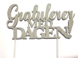 Kaketopper - Gratulerer med Dagen Sølv
