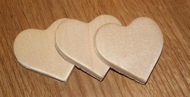Treplater hjerter 3pk