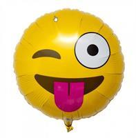Folie - Blink med tungen Emoji ballong