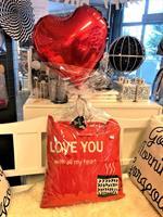 Pute med ballong gave sett - I Love you