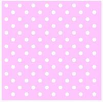 Serviett - Rosa Hvite prikker