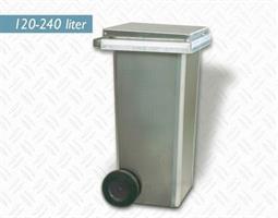 Avfallsbeholder 240 liter Aluminium