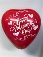 Happy Valentines Rød Hjerte Ballong