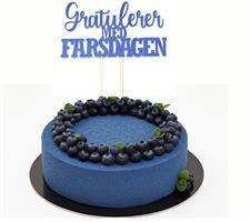 Kaketopper Gratulerer med Farsdagen- Blå