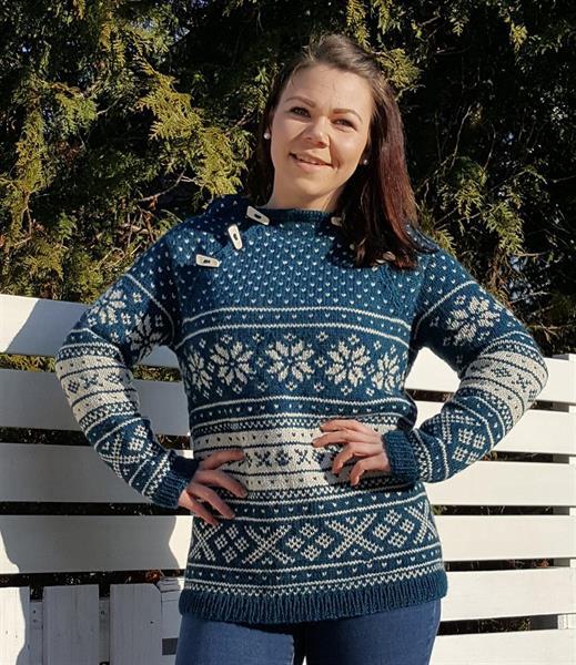 Garnpakke Snøhetta anorakk dame