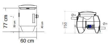 BioBox XL / Saostuskaivo SK100 Biologinen harmaavesisuodatuspaketti