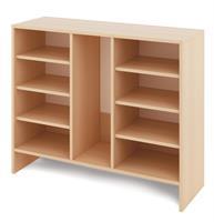 Ekholmen L är för lådor och med hyllor.