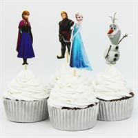 12 stk Stor Frozen Characters Cupcake topper