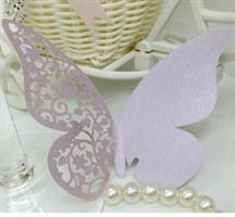 Bordkort - Lys lilla sommerfugl