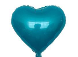 Hjerte Folie Ballong Blå