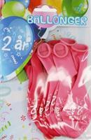 Tinka ballonger 8 pk 2 år Rosa