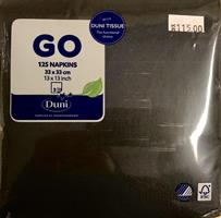 Serviett Duni - Svart 125 stk