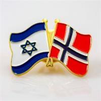 Pin - Flagg Israel / Norge