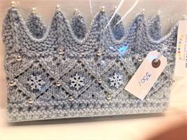 Vinter Prinsesse krone Lys Blå