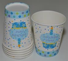6 Stk Papir Kopp -  Blå muffins