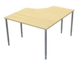 Skrivbord fristående Vänster Hörnben 110x130x60x80