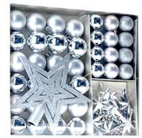 Jul kuler og stjerne 45 DEL - Sølv