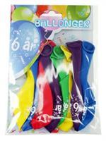 Tinka ballonger 8 pk 6 år Flerfarge