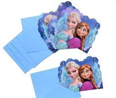 6 stk Invitasjonskort - Frozen