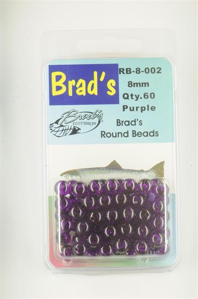 Brad´s Round Beads 8mm Purple 60st