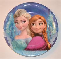 8 stk Papptallerken - Frozen/Frost