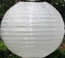 Hvit Lantern 35 cm