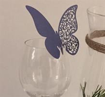 Bordkort - Royal blå sommerfugl