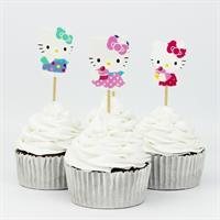 12 stk Hello Kitty Cupcake topper