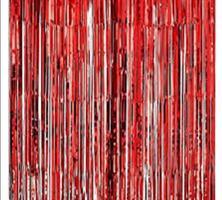 Forheng av folie Rød