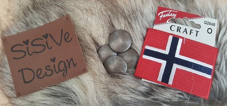 """Tilbehør Norsk strikkeanorakk, """"ulv"""", voksen"""