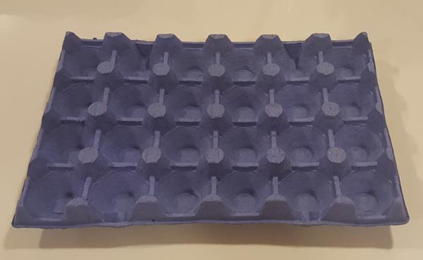 Äggbricka trapac 24 blå 231 st