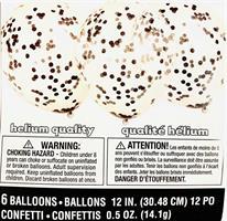 6 stk Svart Konfetti ballong
