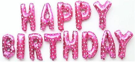Folie - Happy Birthday / rosa