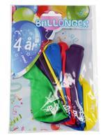 Tinka ballonger 8 pk 4 år Flerfarge